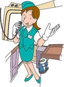 Tour Guide Girl Clipart.