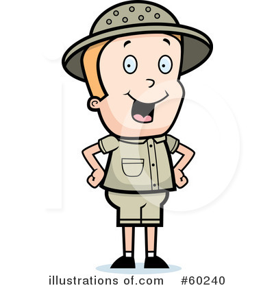 Safari Guide Clipart.