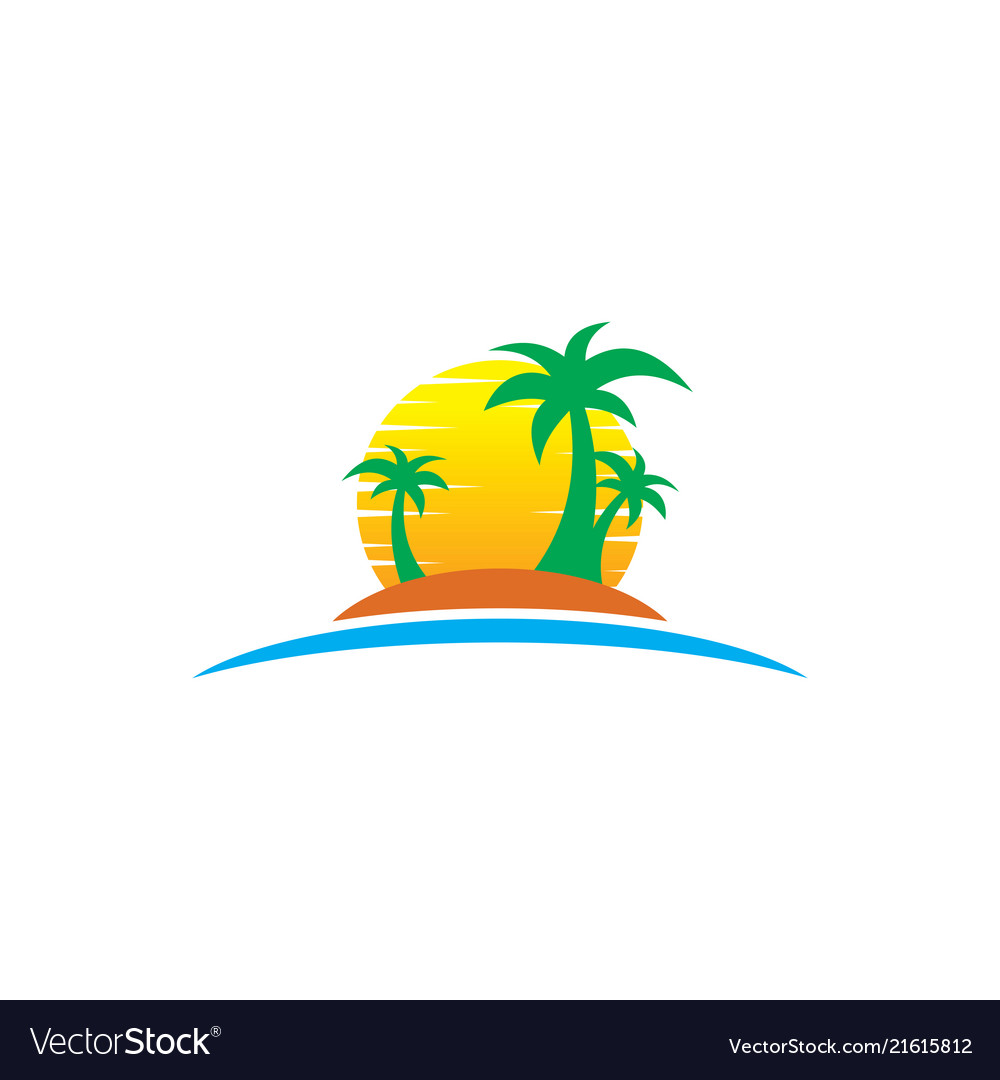 Travel summer logo holiday tour island.