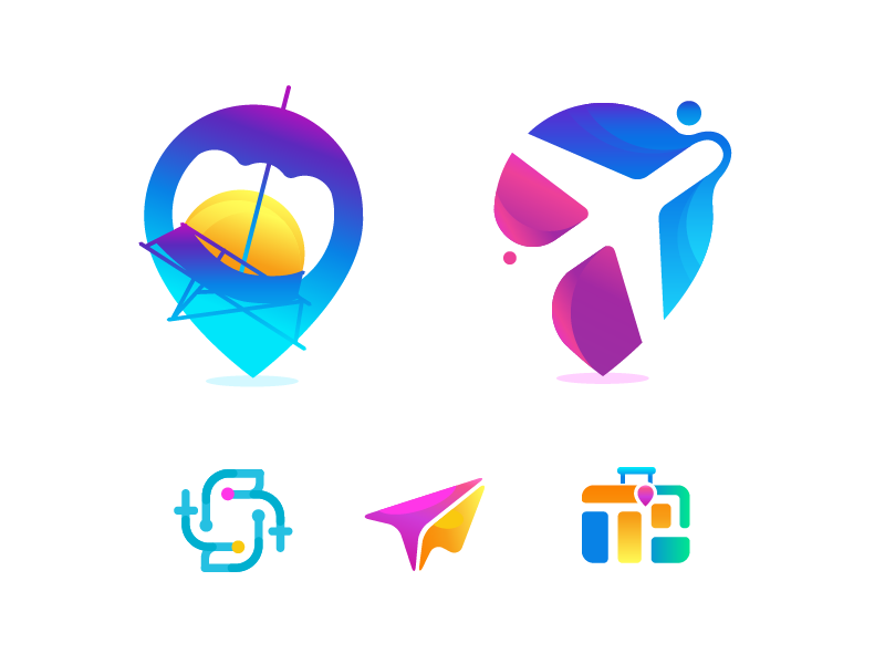 Travel logo exploration by Zahidul on Dribbble.