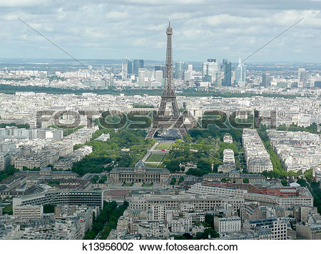 Stock Photo of Panoramic View of Paris from Tour Montparnasse.