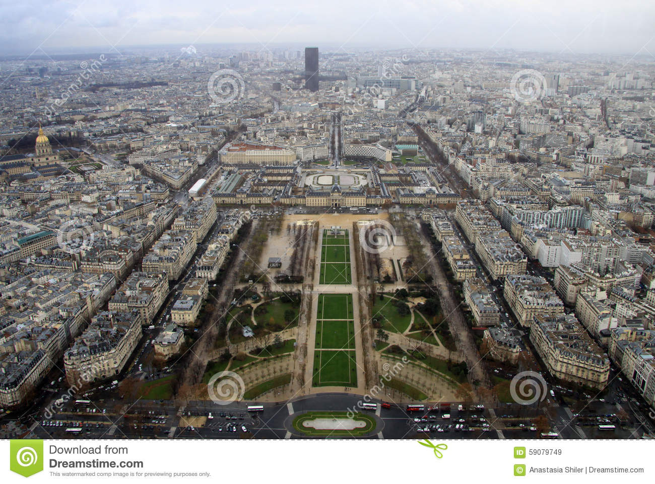 Paris From Tour Montparnasse Stock Images.