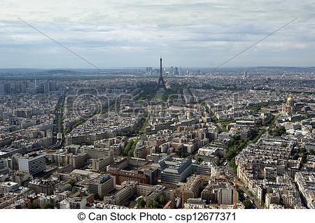 Picture of The city skyline at daytime. Paris, France. Taken from.