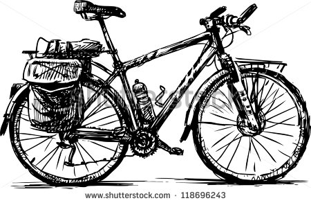 Touring Bike Stock Vector 118696243.