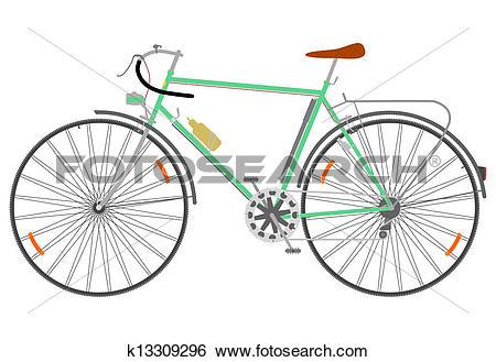 Clip Art of Touring bike. k13309296.
