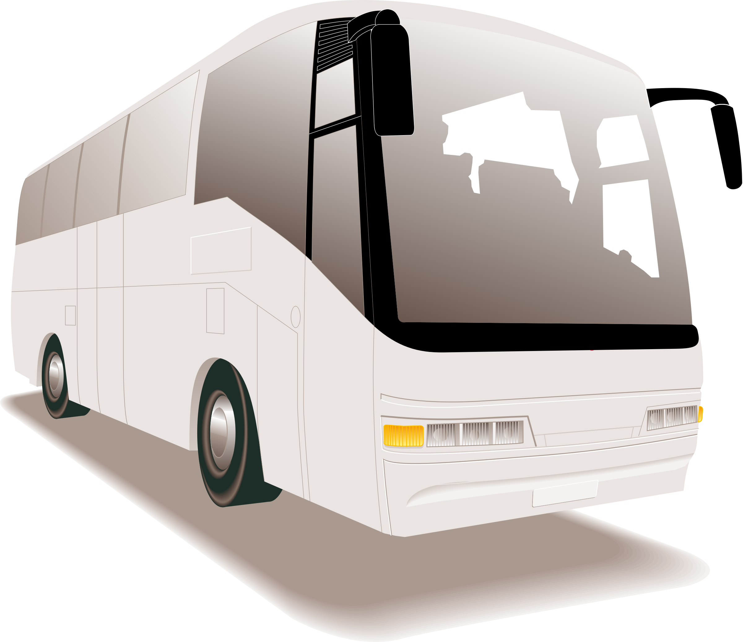 Touring bus clipart #11