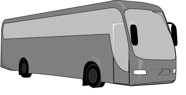 Charter bus clipart.