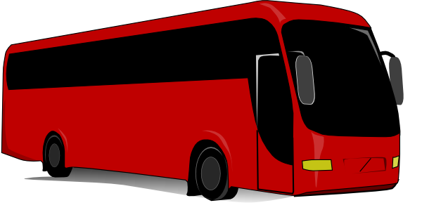Free Tour Bus Clipart Image.