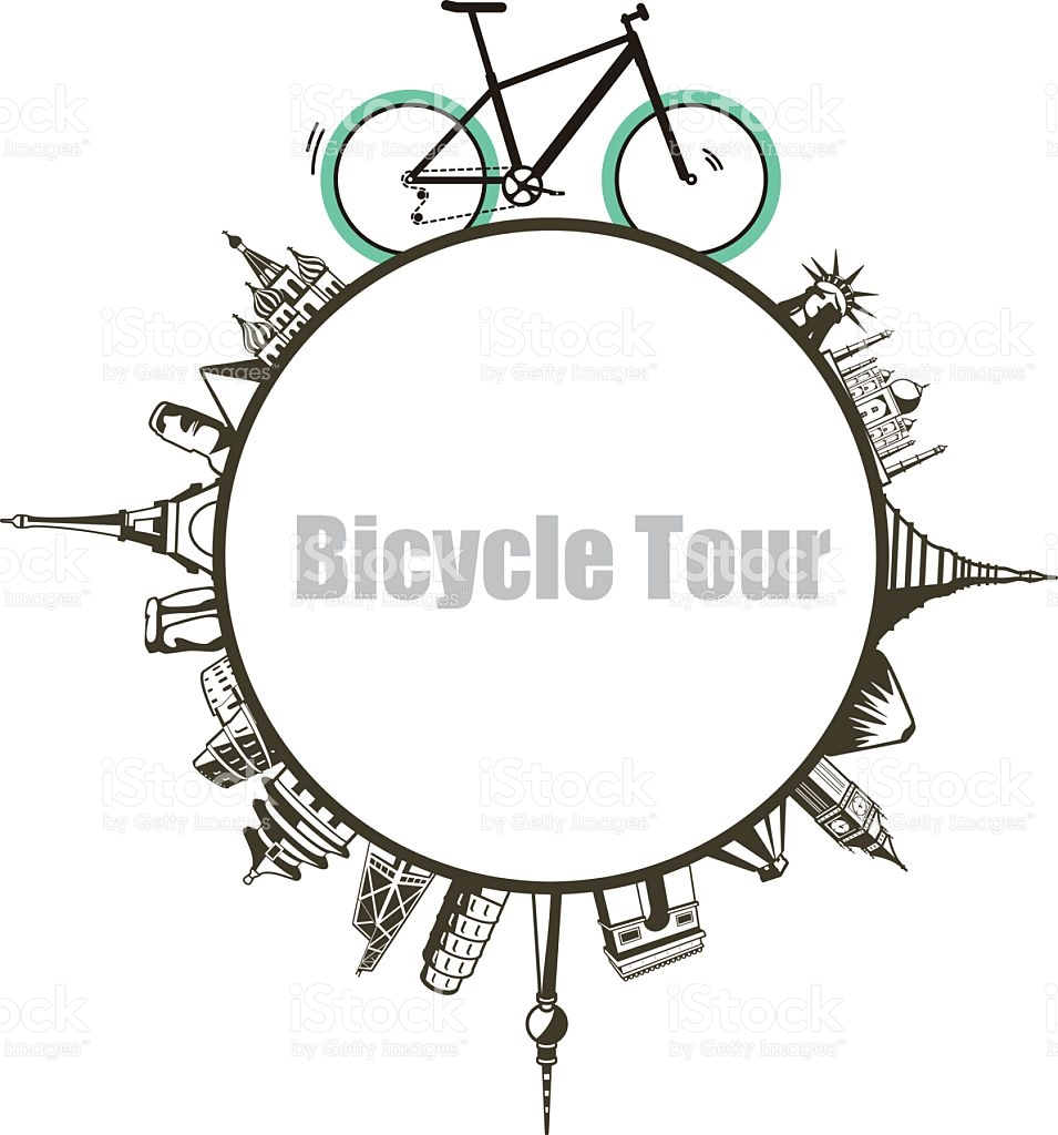 Modern City And Country Touring Bike Illustration stock vector art.