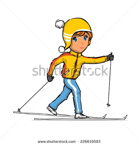 Crossed Skis Stock Photos, Royalty.