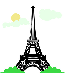 Eiffel Tower Clipart Image.
