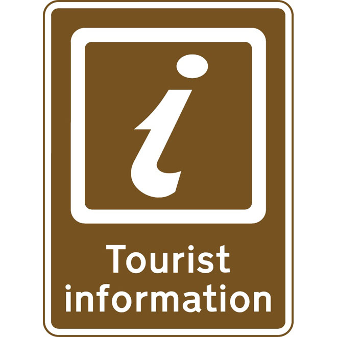 TOURIST INFORMATION SIGN VECTOR.