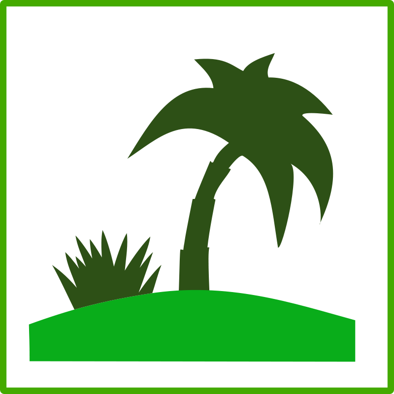 Free Clipart: Eco green tourism icon.