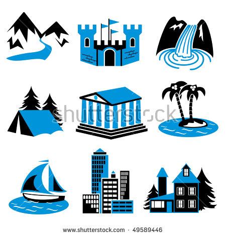 Attractions Icon Stock Photos, Royalty.