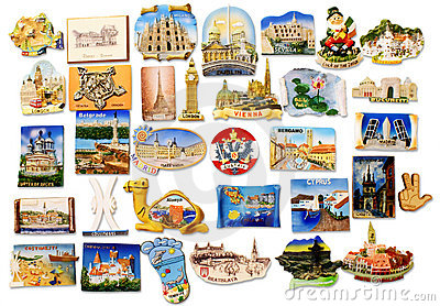 Gift Magnet. Vienna. Royalty Free Stock Images.