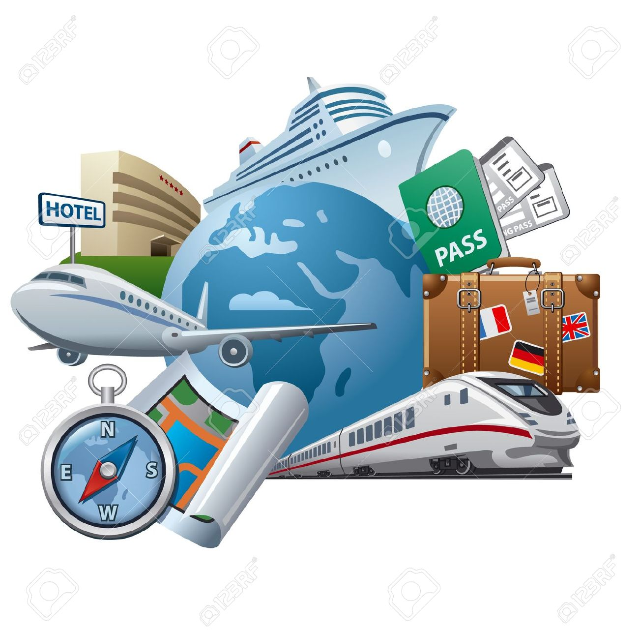 Travel and tourism clipart.