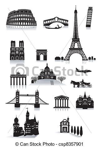 Vector Clip Art of sightseeing building csp8357901.