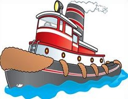Tow Boat Clipart.