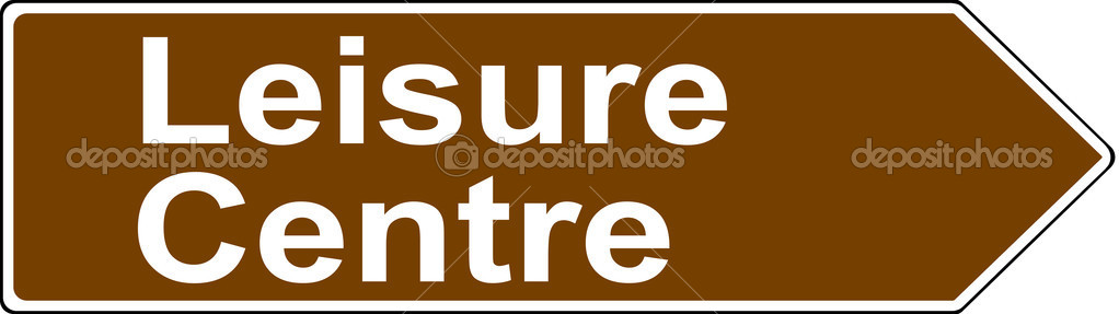 Leisure Centre tourist sign — Stock Photo © PeterEtchells #24001185.