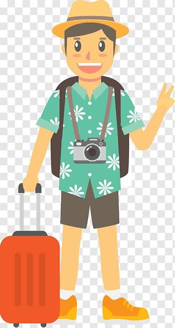 Tourist cutout PNG & clipart images.