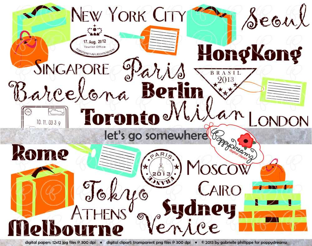 Travel Clip Art Borders.