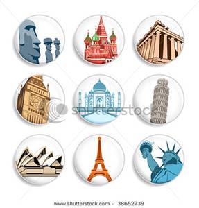 Destination Badges Clip Art Image.