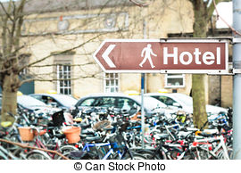Stock Images of Belgian signpost direction sign to a tourist.