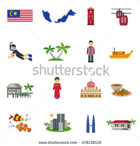 Malaysia Asean Economic Community Aec Infographic Stock Vector.