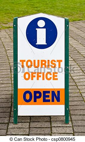 Stock Images of Tourist Office Information Sign.
