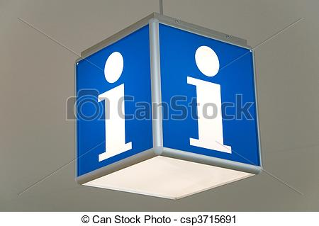 Stock Photography of tourist information booth.