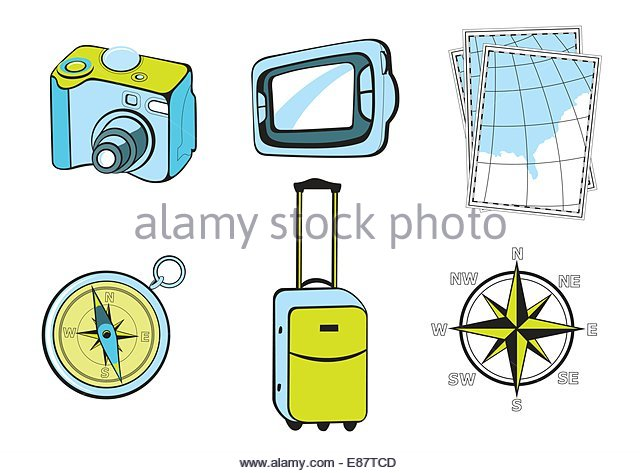 Tourist Magnet Stock Vector Images.