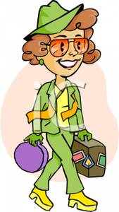 Female Tourists Clipart.