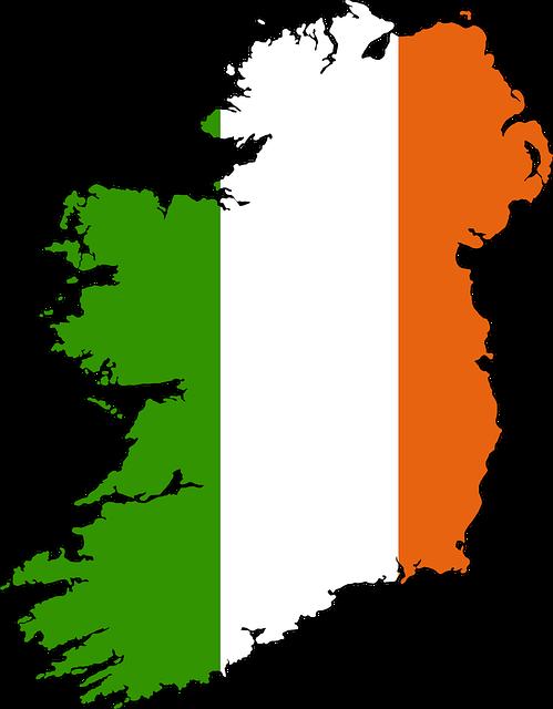 Free illustration: Ireland, Map, Drawn, Holiday.