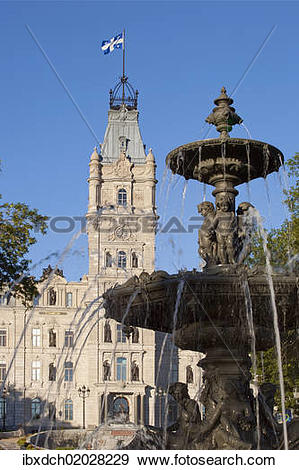 "Stock Photograph of ""Fontaine de Tourny, Tourny fountain, Quebec."