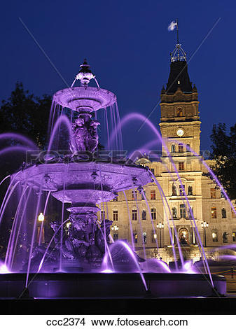 Stock Photo of Canada,Quebec, Quebec City, Fontaine de Tourny was.