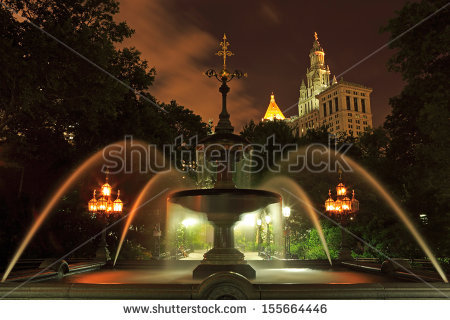 Quebec Parliament Building Fontaine De Tourny Stock Photo.