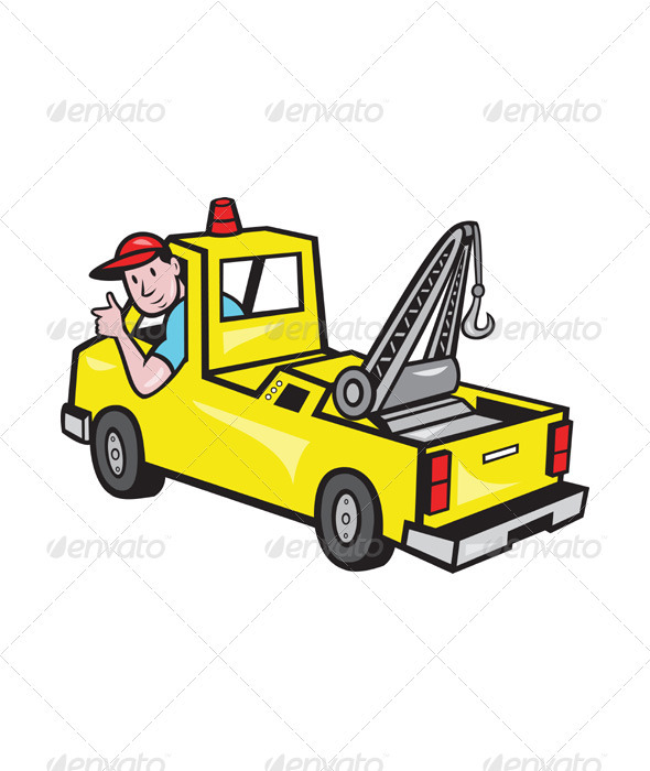 Showing post & media for Cartoon tow truck driver.