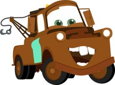 Mater Toy Car Outline Clipart Sillouettes.
