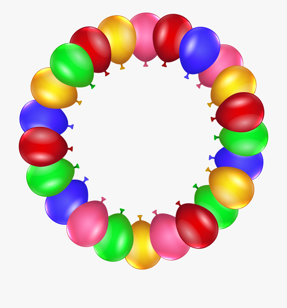 10 Balloons Clipart