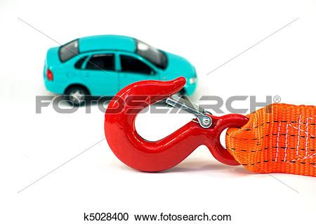 Stock Photography of The car and the tow rope k5028400.