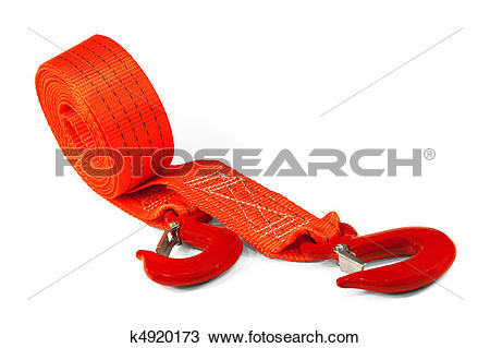 Stock Photo of Car Tow Rope k4920173.