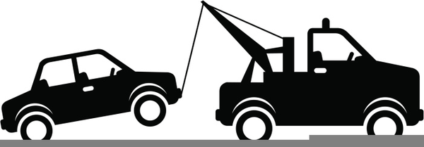 Clipart Tow Truck Towing A Car.