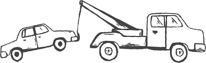 Tow Truck Clipart Black And White.