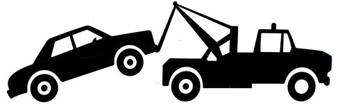 Tow truck towing clipart.