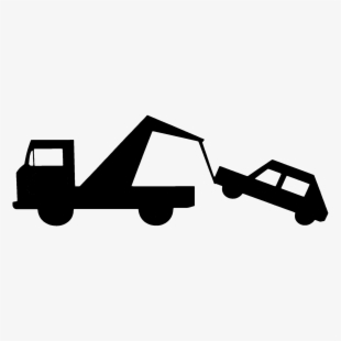Black And White Tow Truck Art , Transparent Cartoon, Free.