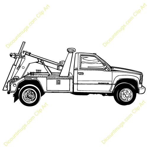 81+ Tow Truck Clipart.