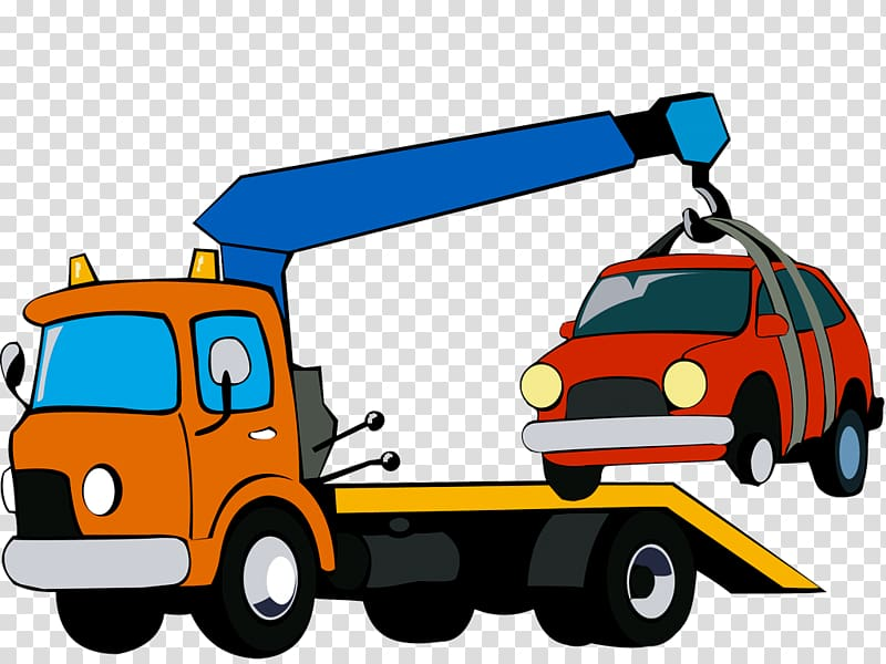 Car Commercial vehicle Tow truck Transport, car transparent.