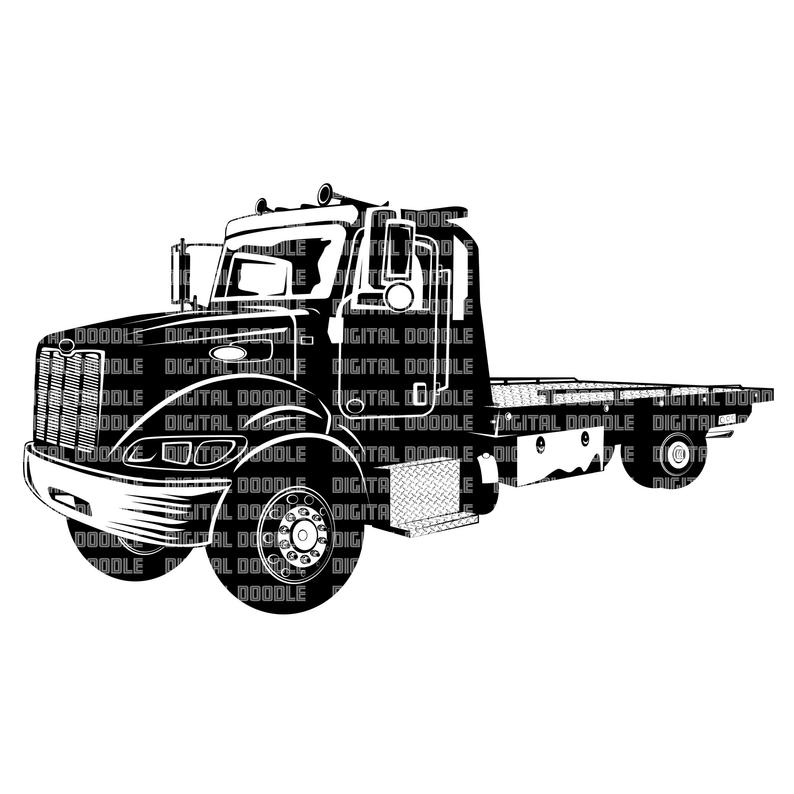 Flatbed Tow Truck Vector at Vectorified.com.