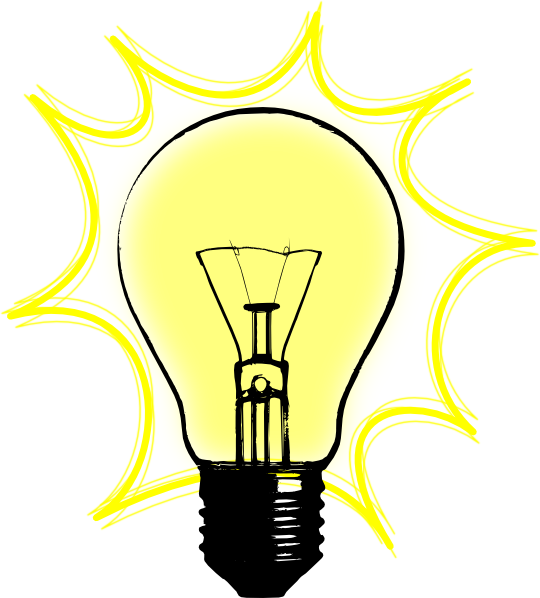 Multi color light bulbs clipart.