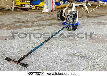 Stock Photography of Tow bar attached to the nose wheel k22723791.